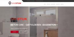 Voorbeeld website van www.sanistuc.nl gemaakt door NVinity