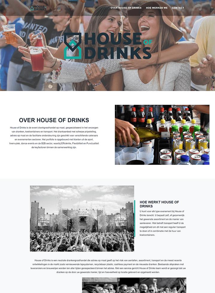 Portfolio voorbeeld van www.houseofdrinks.nl
