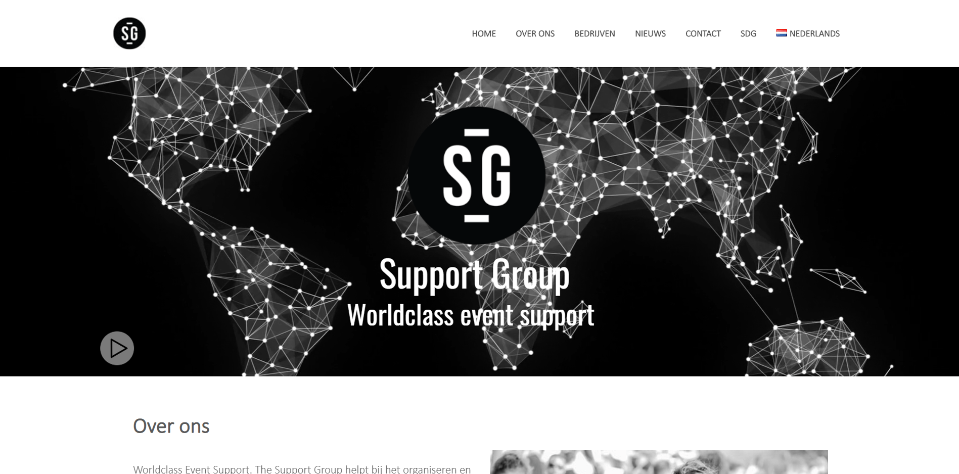 Foto van de Website www.the-supportgroup.com